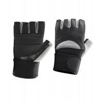 Перчатки чернo-серые с фиксатором